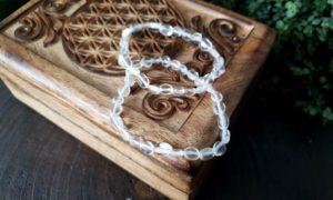 armband bergkristal nugget