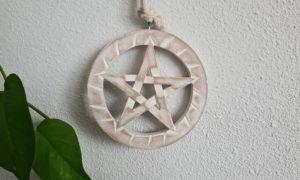 wandhanger hout pentagram