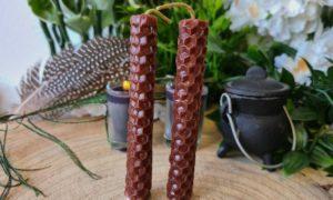 bijenwas spellcandle bruin